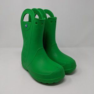 Crocs Rubber Waterproof Rain Boots Youth Size 2Y